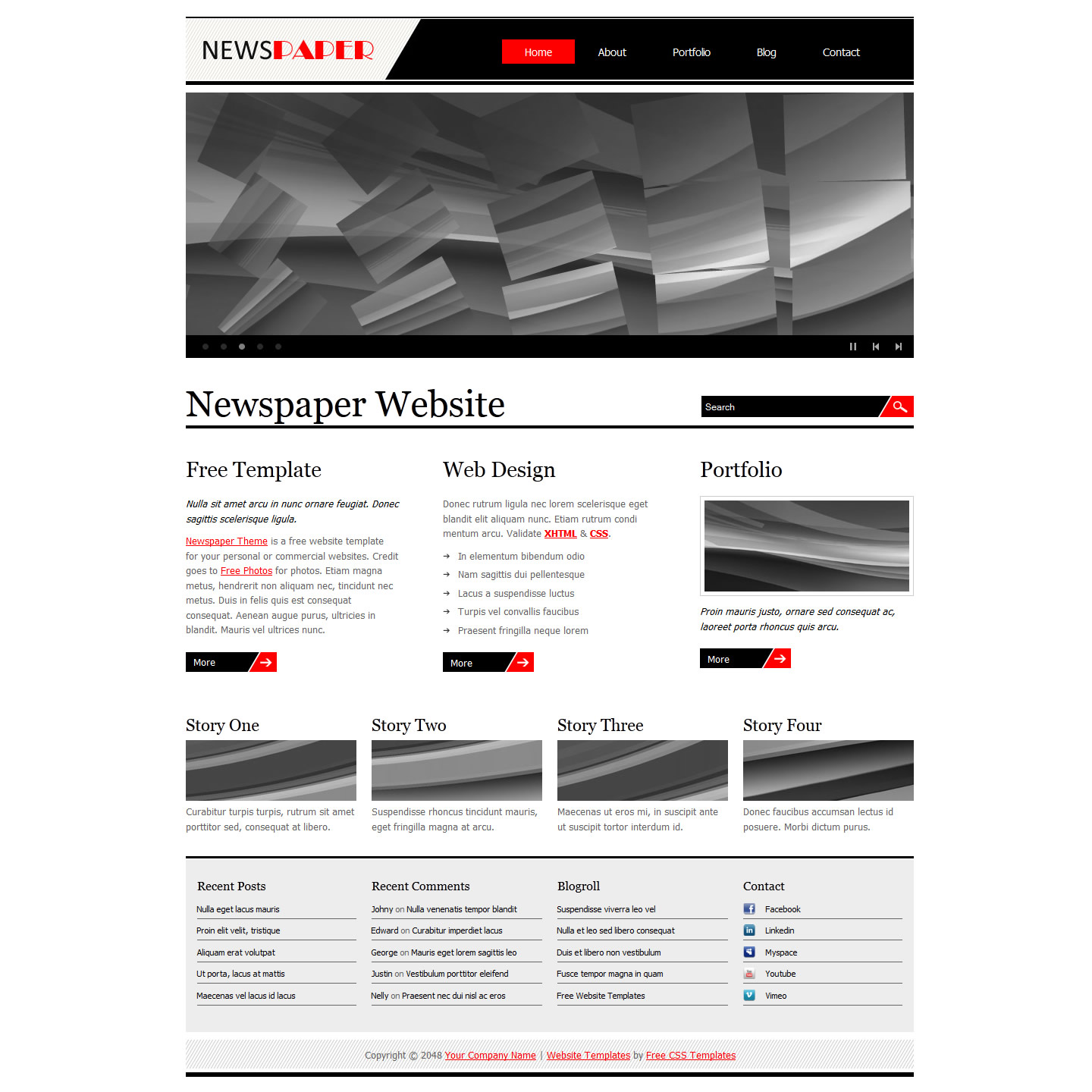 newspaper html template free download - Ideal.vistalist.co