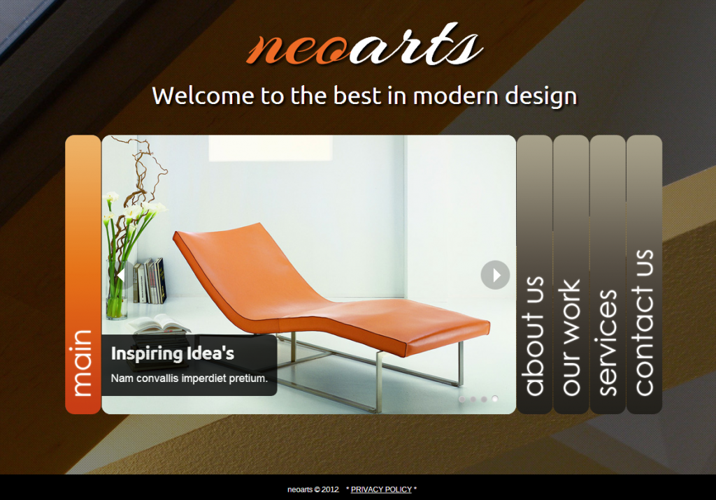 Free Interior Design Web Templates